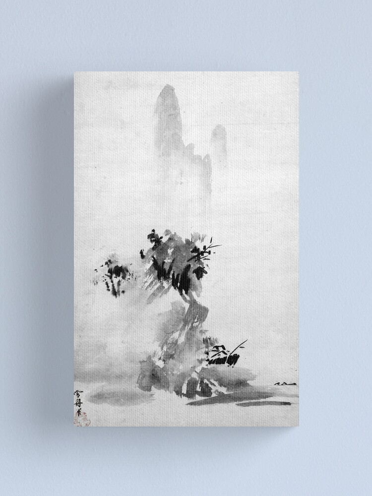 Alternate view of Sesshu Toyo Haboku-Sansui Landscape Canvas Print