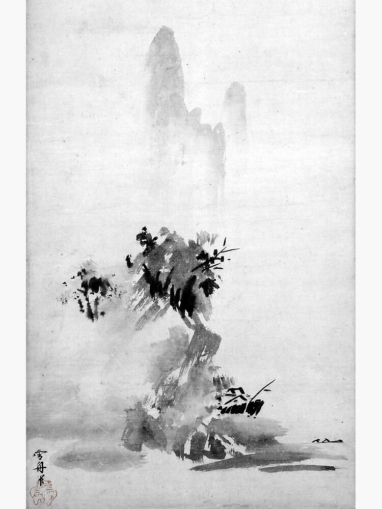 Sesshu Toyo Haboku-Sansui Landscape by pdgraphics