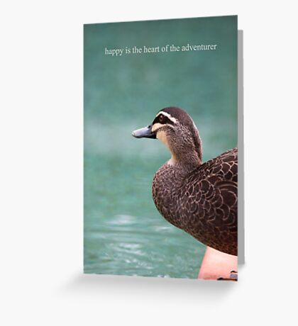 Duck's Courage Greeting Card