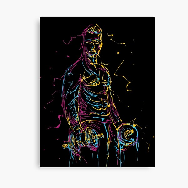 Man Working Out Canvas Print