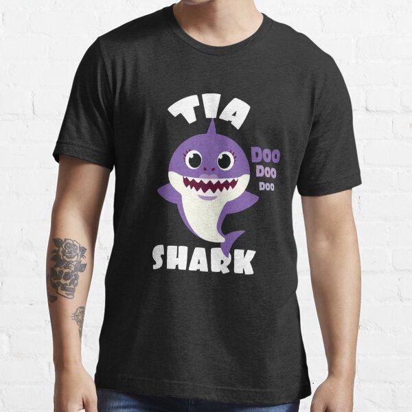 Papa Shark Shirt Matching Family Cute Gift