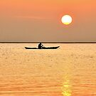 Canoeing at sunset by Adri  Padmos