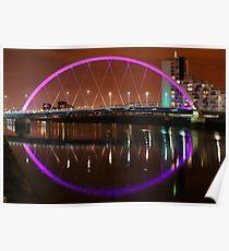 Glasgow's Squinty Bridge at Night Poster