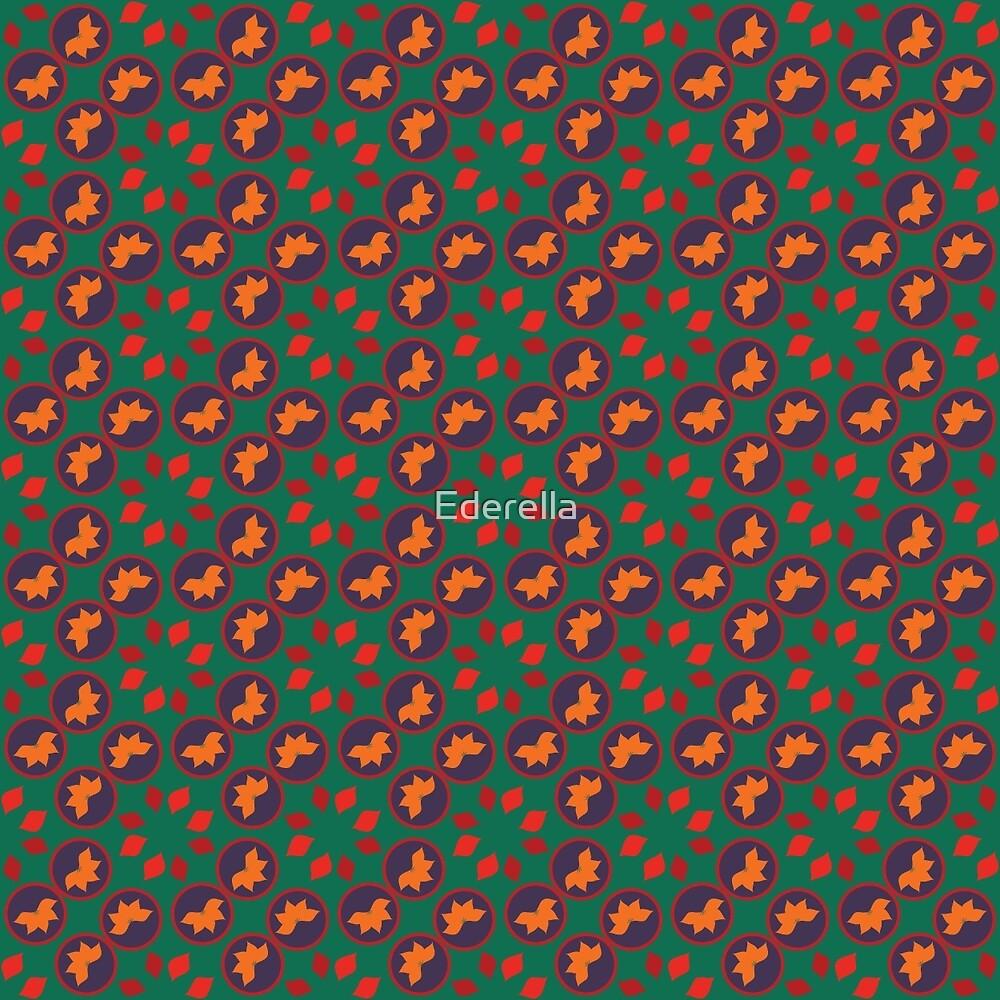 Green autumn pattern by Ederella