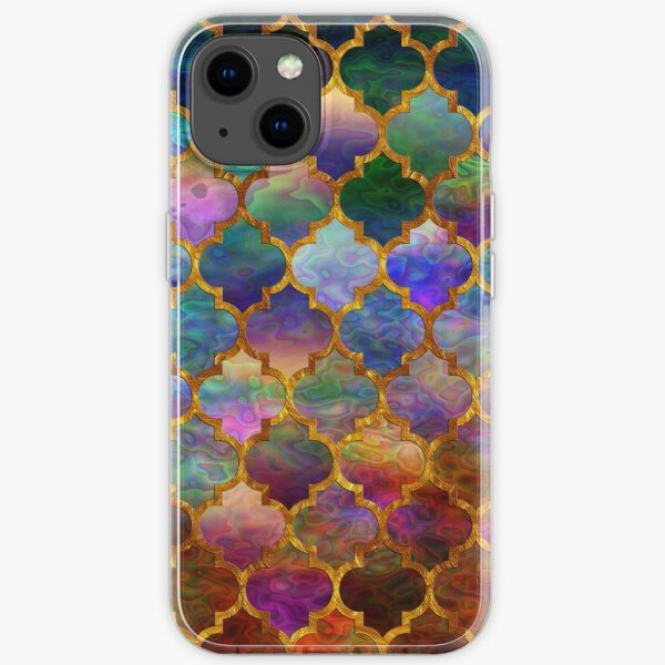 Arabic moroccan mosaic pattern iPhone Soft Case