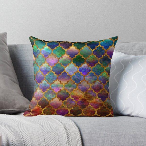 Arabic moroccan mosaic pattern Throw Pillow