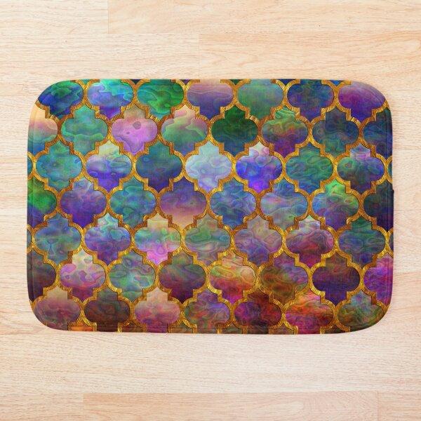 Arabic moroccan mosaic pattern Bath Mat