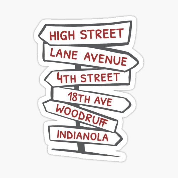 Street Names CBUS Sticker