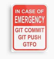 Git Emergency Metal Print