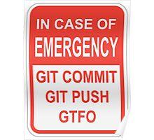 Git Emergency Poster