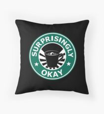 Sherlock's Coffee (Surprisingly Okay) Throw Pillow