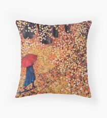 Walk in the Park (inspired by photography by Song Wen) Throw Pillow