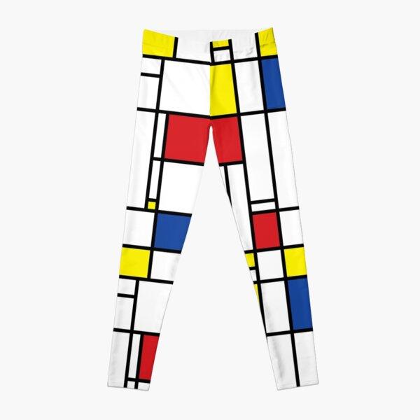 Mondrian Minimalist De Stijl Modern Art © fatfatin Leggings
