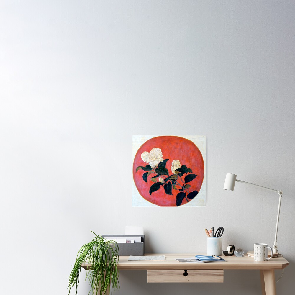 Asian Floral Poster