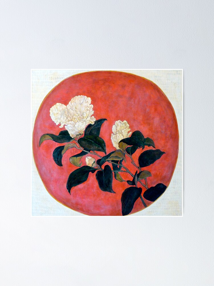 Alternate view of Asian Floral Poster