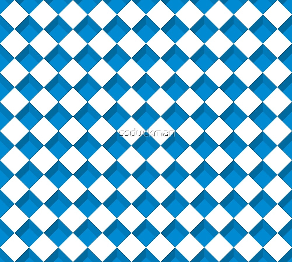 blue checkerboard  by ssduckman