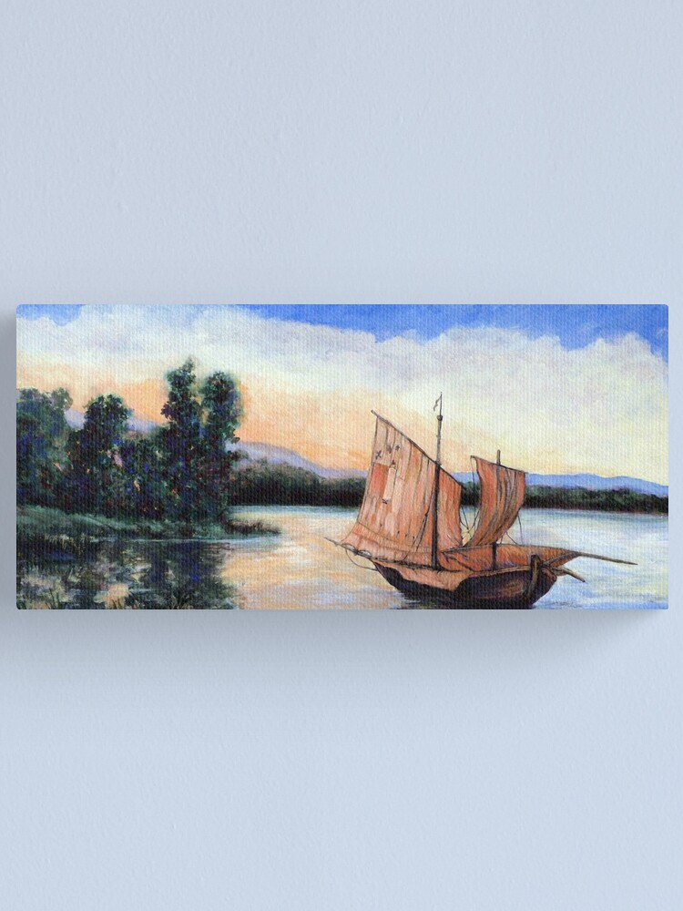 Alternate view of Setting Our Sails Canvas Print