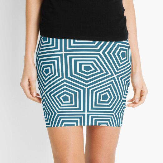 Cairo Pentagonal Tiling Blue White Mini Skirt