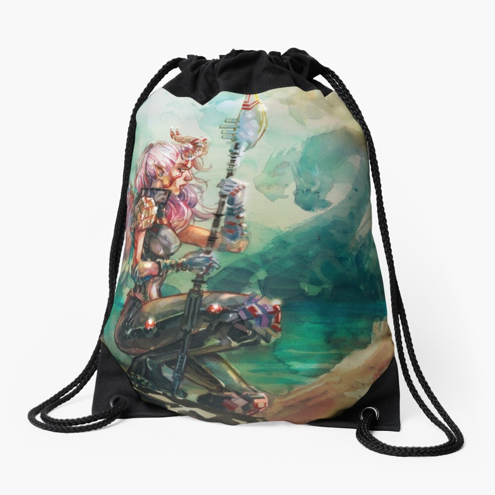 Angel's Quest - Watercolor Art by Tony Moy Drawstring Bag
