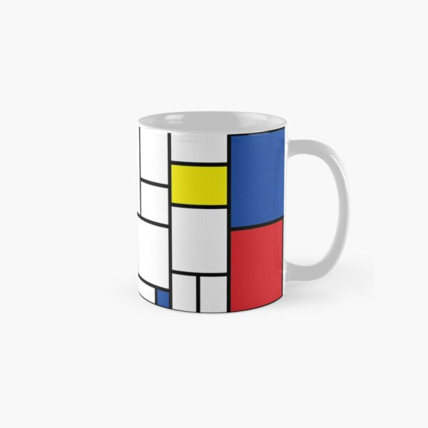 Mondrian Minimalist De Stijl Modern Art II © fatfatin Mug classique