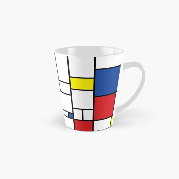 Mondrian Minimalist De Stijl Modern Art II © fatfatin Mug long