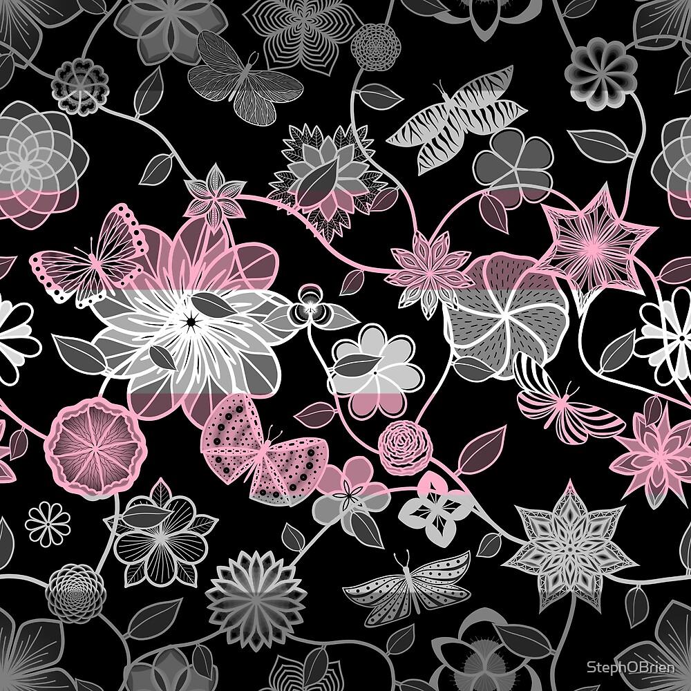 Butterfly Garden, Pride Flag Series - Demigirl by StephOBrien