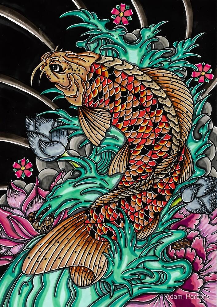 japanese koi fish by Adam  Parsons