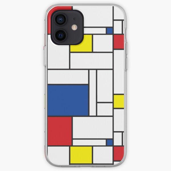 Mondrian Minimalist De Stijl Modern Art II © fatfatin iPhone Soft Case