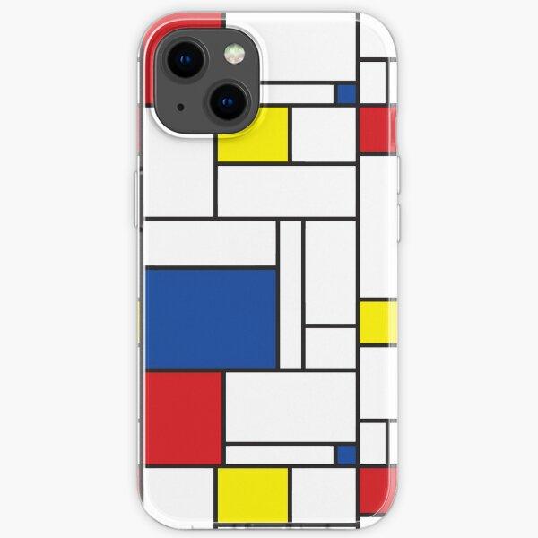 Mondrian Minimalist De Stijl Modern Art II © fatfatin Coque souple iPhone