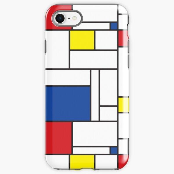 Mondrian Minimalist De Stijl Modern Art II © fatfatin iPhone Tough Case