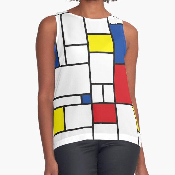 Mondrian Minimalist De Stijl Modern Art II © fatfatin Sleeveless Top