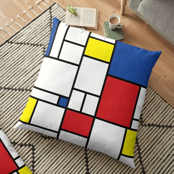 Mondrian Minimalist De Stijl Modern Art II © fatfatin Floor Pillow