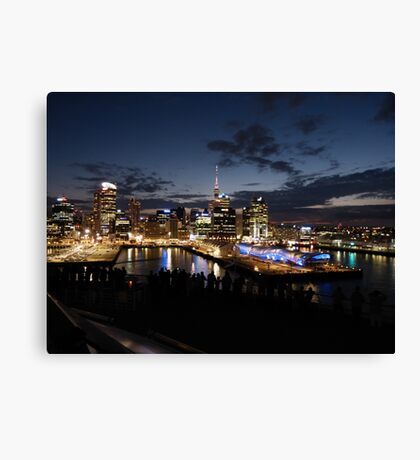 Arriving in Auckland Canvas Print