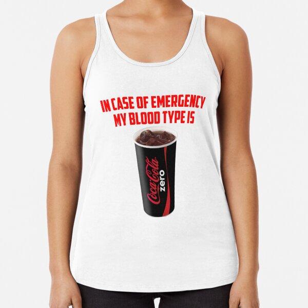 My Blood Type Is Coke Zero Racerback Tank Top