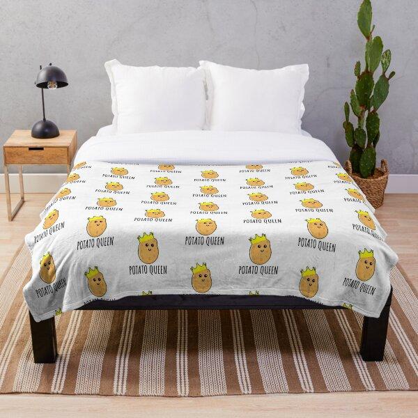 Potato Queen - Funny Potato gift Throw Blanket