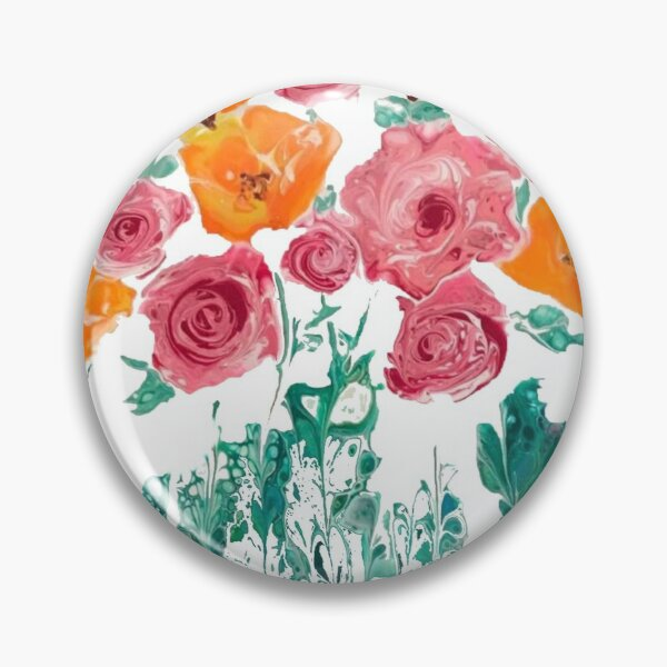 Roses and Poppies II Pin