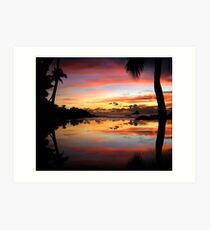 Carribean Sunset Art Print