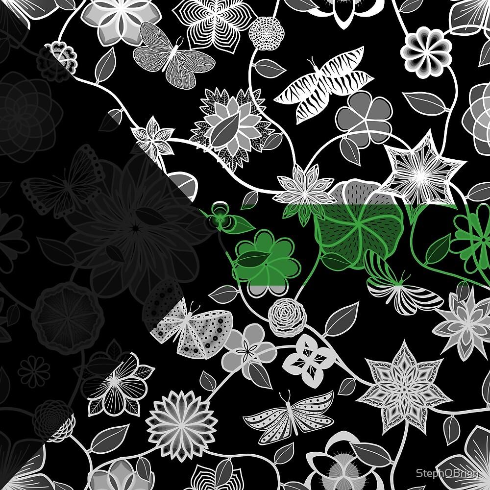 Butterfly Garden, Pride Flag Series - Demiromantic by StephOBrien