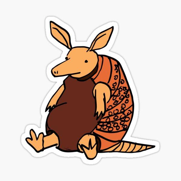 Fat Armadillo Sticker