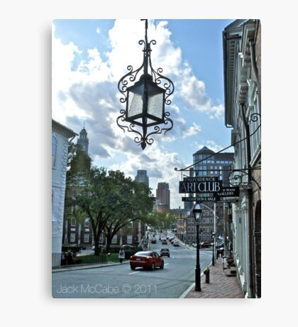 Providence View from Steeple Street - Providence Art Club Canvas Print