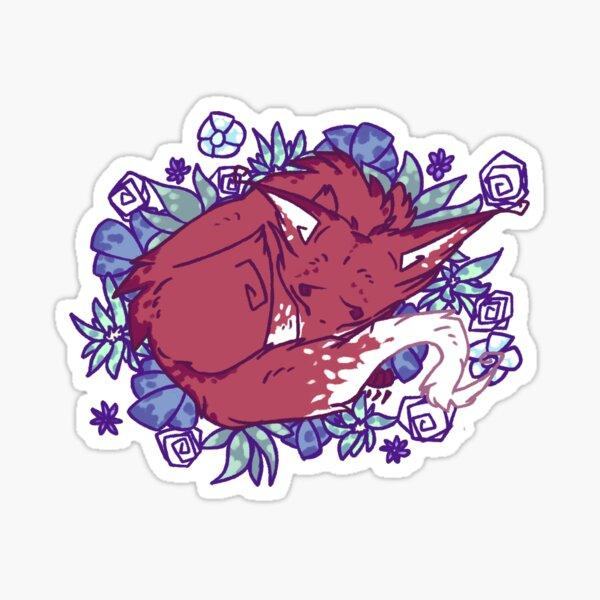 Flowerbed Fox Sticker
