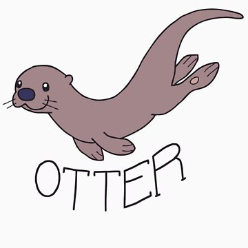 Cute River Otter Shirt by Growly