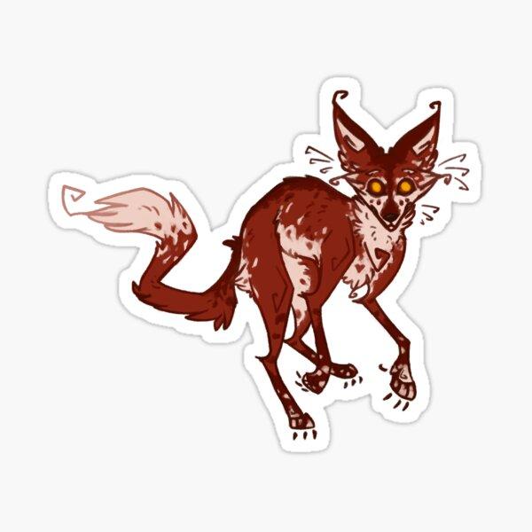 Frightened Fox Sticker
