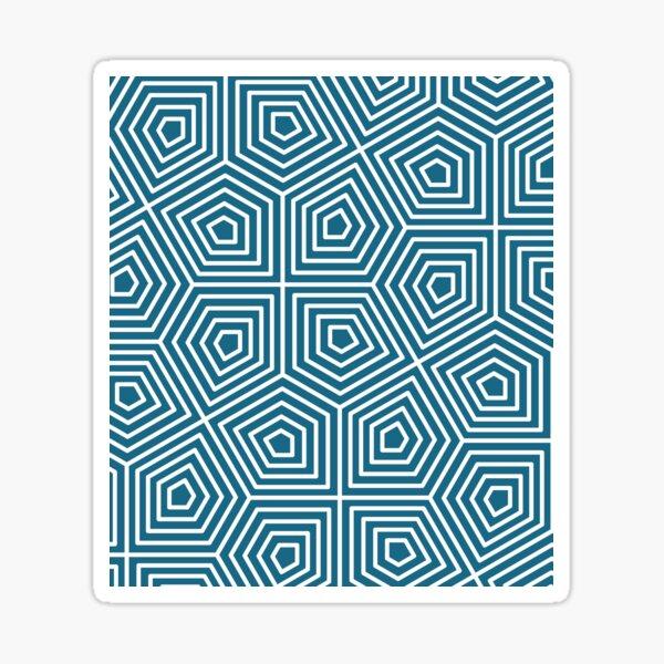 Cairo Pentagonal Tiling Blue White Sticker