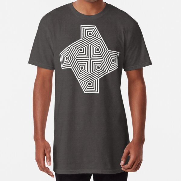 Cairo Pentagonal Tiling Blue White Long T-Shirt