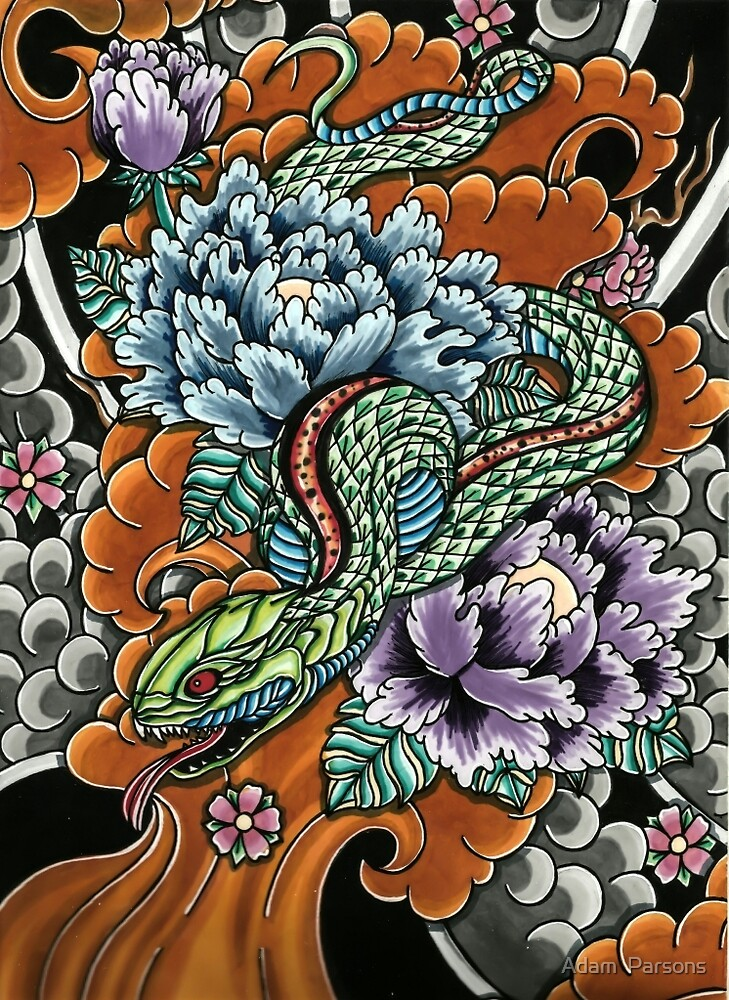 japanese snake  by Adam  Parsons