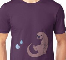 Cute Otter with Water Droplets Unisex T-Shirt
