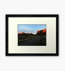 Sun Warms Faces of Red Rock Country Framed Print