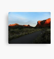 Sun Warms Faces of Red Rock Country Canvas Print