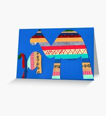 Camels Greeting Card